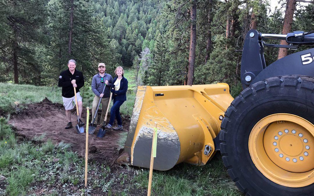 New Home Groundbreaking in Divide, Colorado